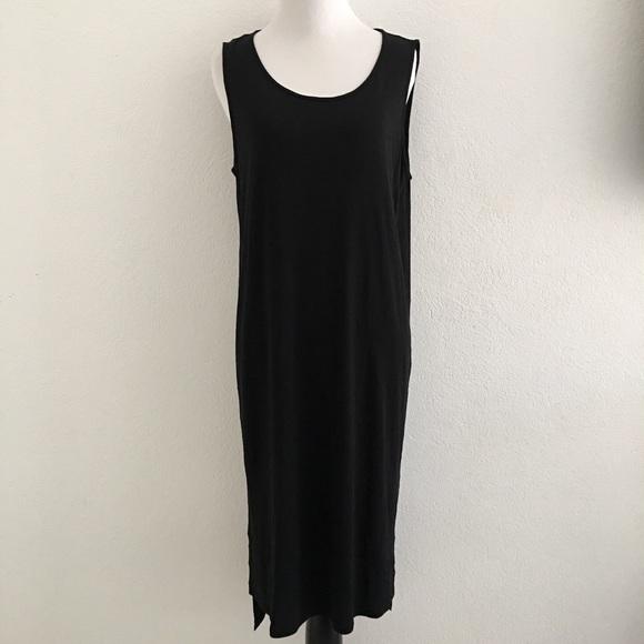 087762c90a Eileen Fisher Dresses   Skirts - Eileen Fisher Black 100% Silk Midi Dress  Size M